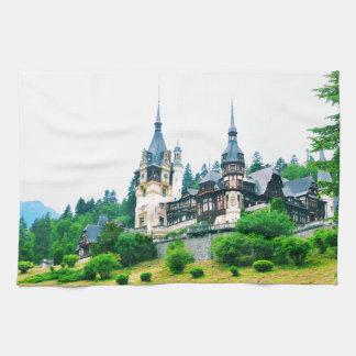 Peles Castle in Sinaia, Romania Hand Towel