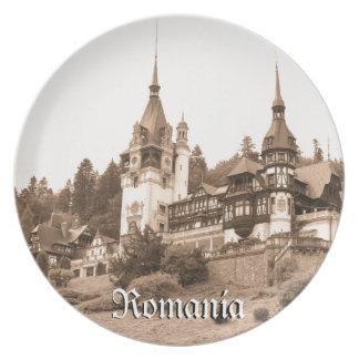 Peles Castle in Sinaia, Romania Party Plates