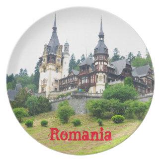 Peles Castle in Sinaia, Romania Plate