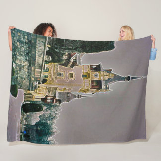 Peles Castle, Romani Acrylic Art Fleece Blanket