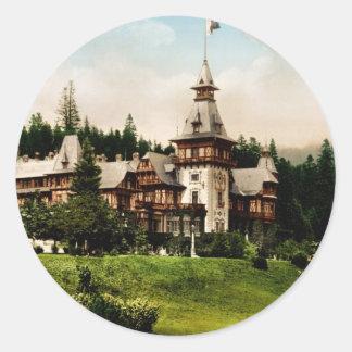 Peles Castle Sinaia Romania Classic Round Sticker