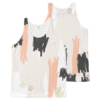 Pelican ?// Abstract Pattern Scribble Print Vest T