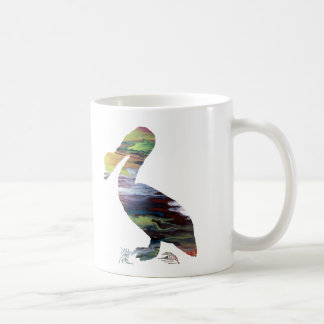 Pelican art coffee mug