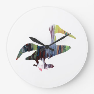 Pelican art large clock