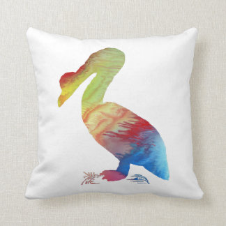 Pelican art throw pillow