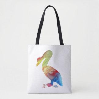 Pelican art tote bag
