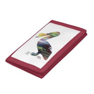 Pelican art tri-fold wallet