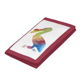 Pelican art tri-fold wallets