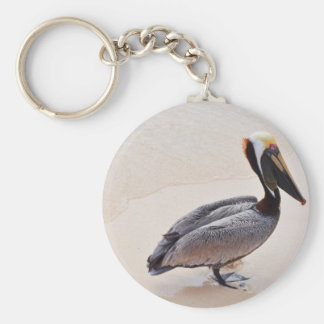 Pelican at the beach keychain