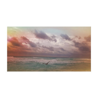 Pelican at the Ocean Canvas Print