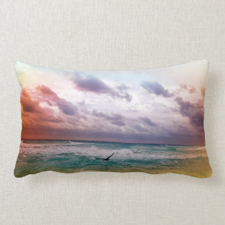 Pelican at the Ocean Lumbar Pillow
