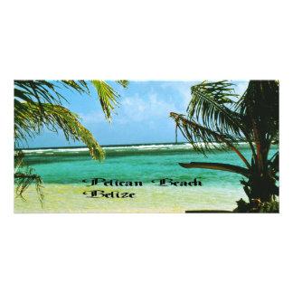 Pelican Beach Belize Photo Card Template