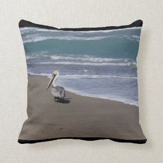 Pelican Beach Friends Throw Pillow