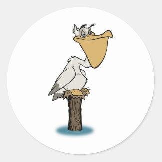 Pelican - Bird Rescue Round Sticker