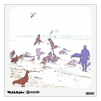 Pelican Birds Beach Wall Decal