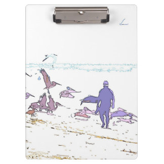 Pelican Birds Wildlife Animals Beach Clipboard
