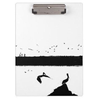 Pelican Birds Wildlife Animals Beach Clipboards