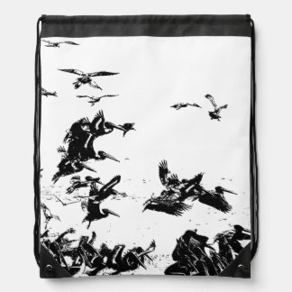 Pelican Birds Wildlife Animals Beach Ocean Backpacks