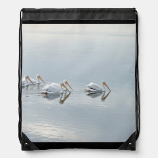 Pelican Birds Wildlife Animals Beach Ocean Cinch Bags