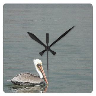 Pelican Birds Wildlife Animals Beach Ocean Wall Clocks