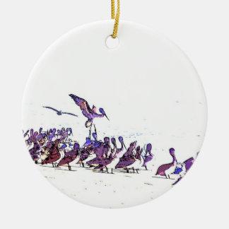 Pelican Birds Wildlife Animals Ocean Ceramic Ornament