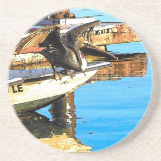 Pelican Birds Wildlife Animals Ocean Coaster