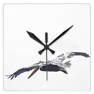 Pelican Birds Wildlife Animals Wall Clocks