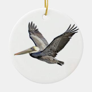 Pelican Clear Ceramic Ornament