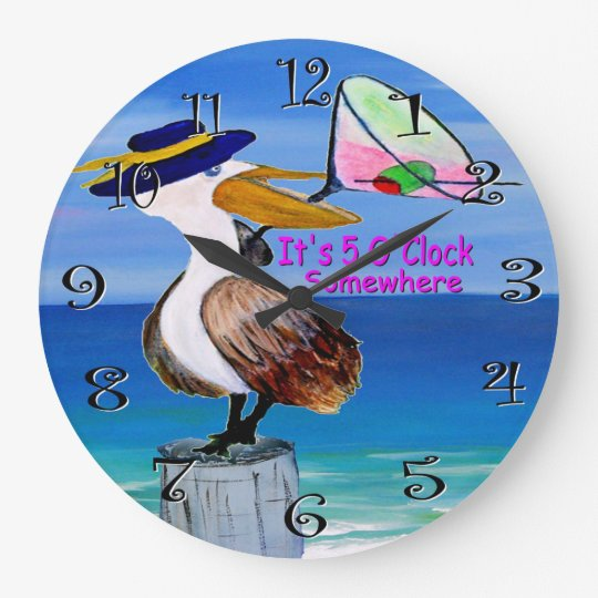 pelican cocktail clock