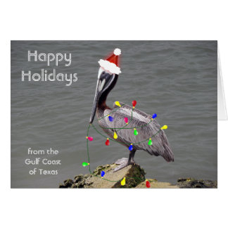 Pelican Decorating for Christmas Card