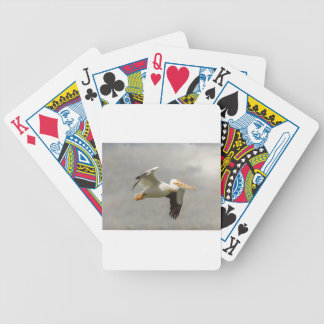 Pelican In Flight Bicycle Playing Cards