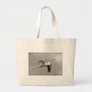 Pelican In Flight Large Tote Bag