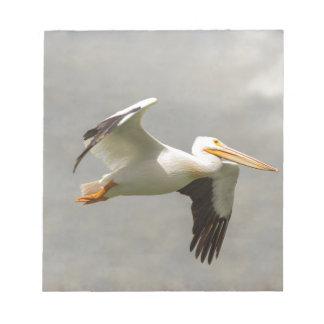 Pelican In Flight Notepad
