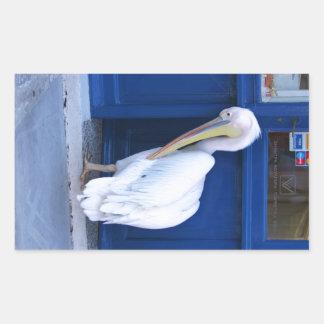Pelican in Greece Sticker