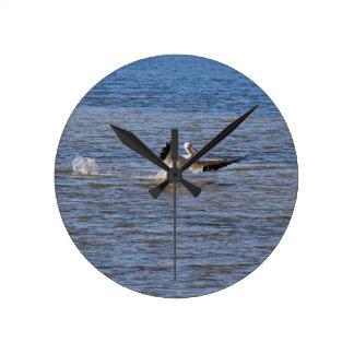 Pelican Landing Round Clock