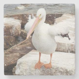Pelican Marble Coaster