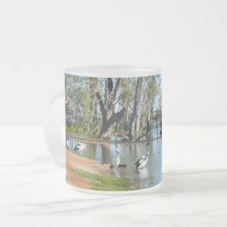 Pelican Oasis Berri Riverland Australia, Frosted Glass Coffee Mug