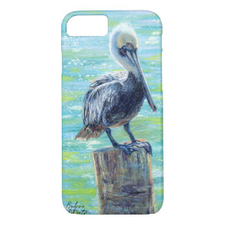 """Pelican on a Pole"" Phone Case"