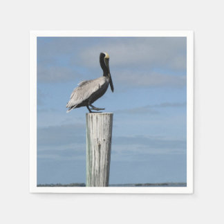 Pelican on a Post Napkins Disposable Napkins