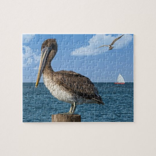 Pelican on a Post Puzzle