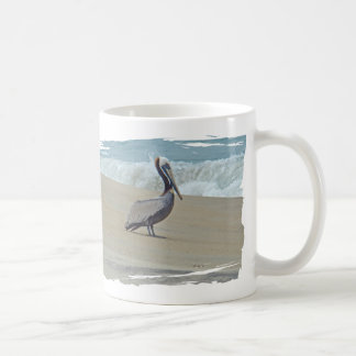 Pelican on Outer Banks OBX NC Coffee Mugs