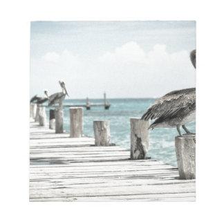 Pelican on Pier Notepad