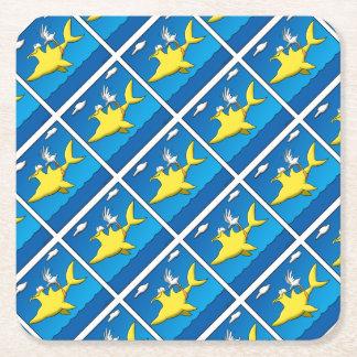 Pelican Pains Square Paper Coaster
