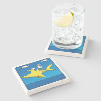 Pelican Pains Stone Coaster
