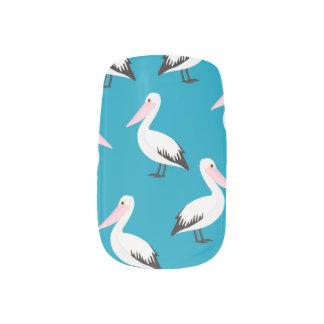 Pelican pattern minx nail art