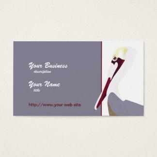 Pelican Portrait Business Card