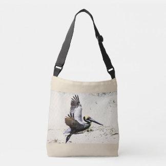Pelican Printed Cross Body Tote Bag