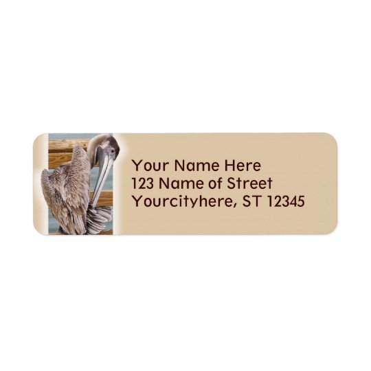 Pelican Return Address Label