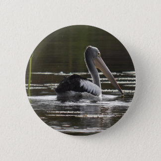 PELICAN RURAL QUEENSLAND AUSTRALIA 2 INCH ROUND BUTTON