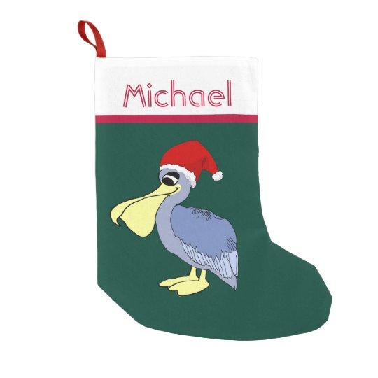 Pelican Santa Christmas Small Christmas Stocking